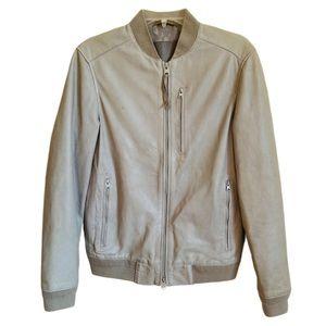 Men's All Saints MIKO bomber leather zip jacket